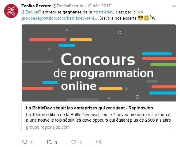 Zenika Recrute Twitter