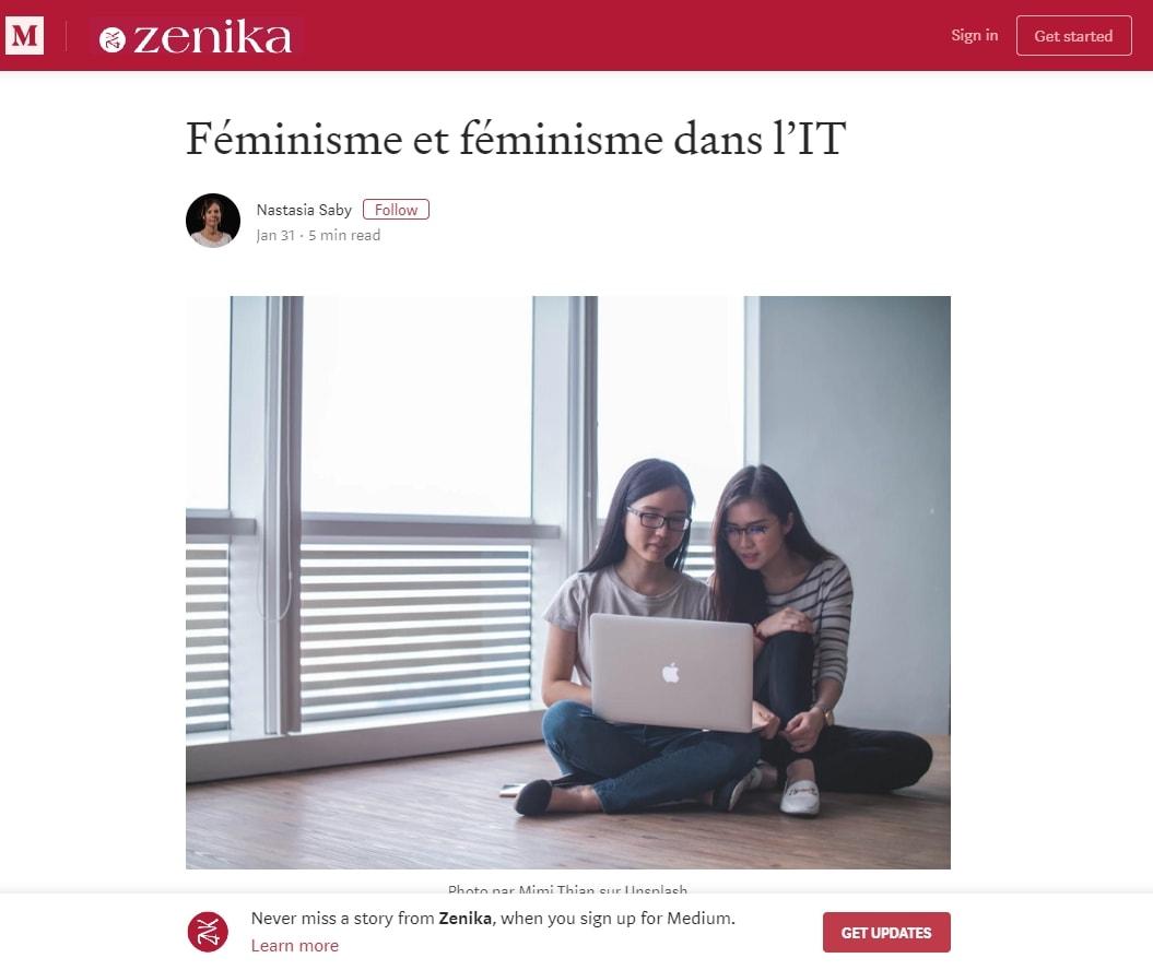 Article Zenika sur le féminisme