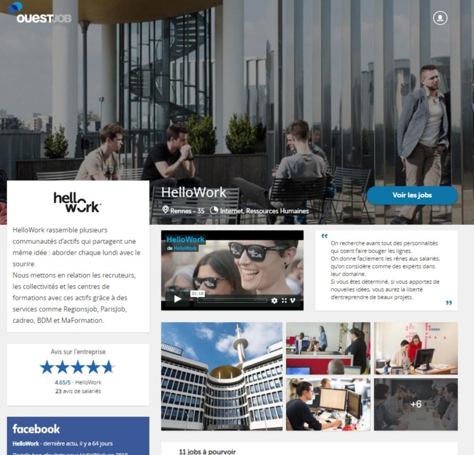 Page entreprise